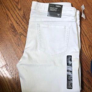 GAP White denim jeans